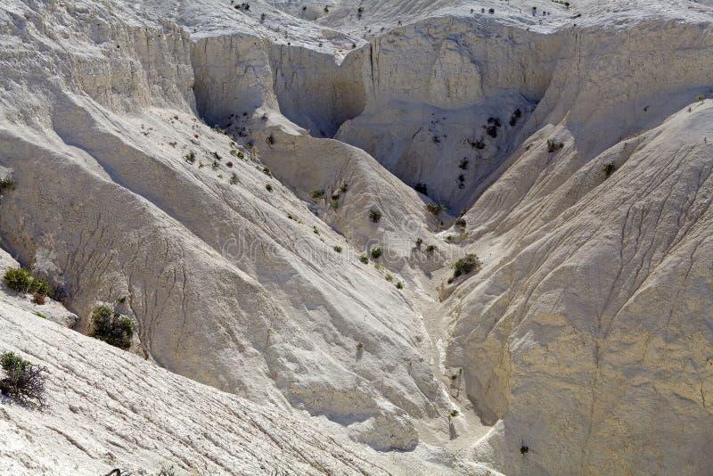Landskap från kullen nära Puerto Madryn, en stad i det Chubut landskapet, Patagonia, Argentina royaltyfri fotografi