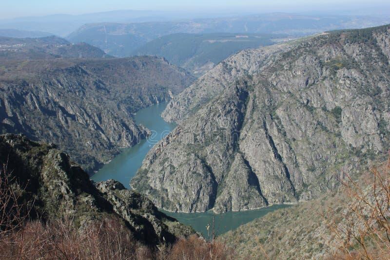 Landskap Galicia royaltyfri foto