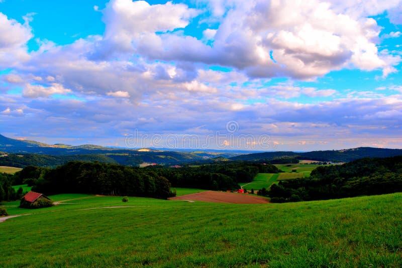 Landskap i Bayern fotografering för bildbyråer