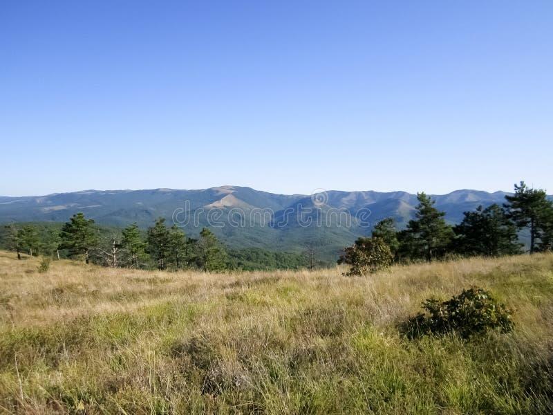 Landskap i berg fotografering för bildbyråer