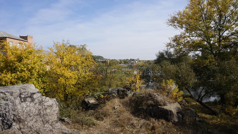 Landskap i Boguslav royaltyfri fotografi
