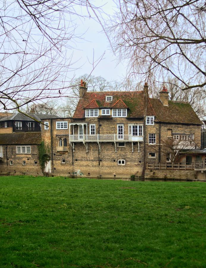 Landskap i Cambridge England arkivbilder