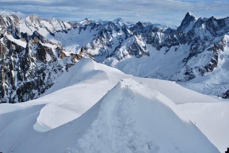 Landskap i Chamonix royaltyfria bilder