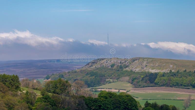 Landskap i de norr Yorks hederna, UK arkivfoton