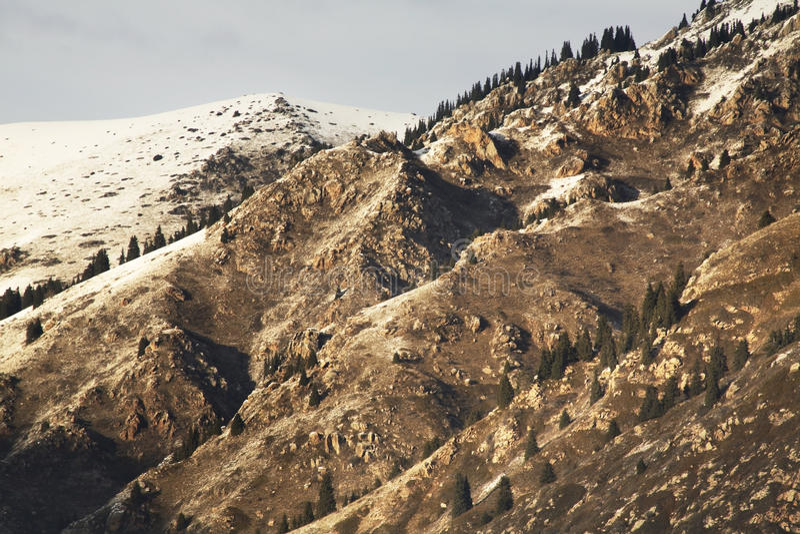 Landskap i den Grigoriev klyftan kyrgyzstan arkivfoto
