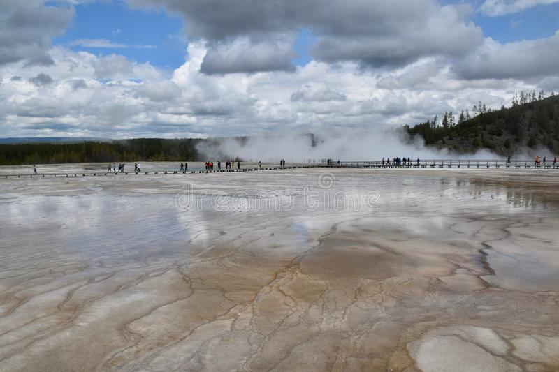Landskap i den Yellowstone nationalparken och sylten, USA royaltyfri bild