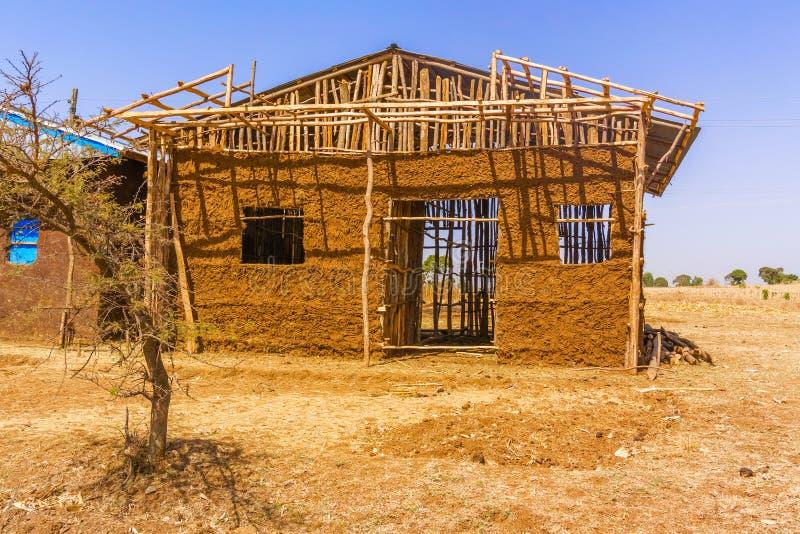 Landskap i Etiopien nära Bahir Dar fotografering för bildbyråer