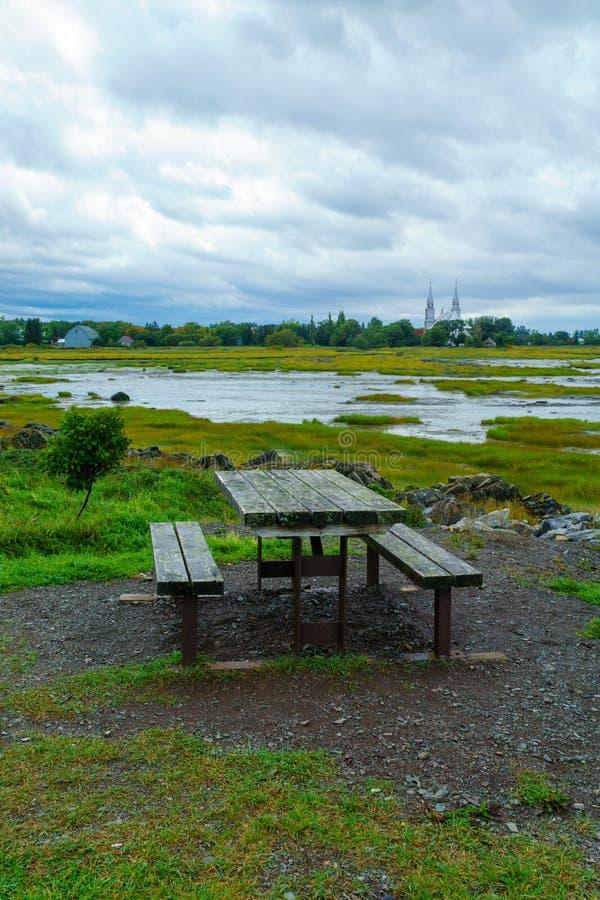 Landskap i Helgon-Roch-des-Aulnaies, Quebec fotografering för bildbyråer