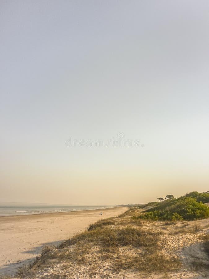 Landskap i kusten av Uruguay fotografering för bildbyråer