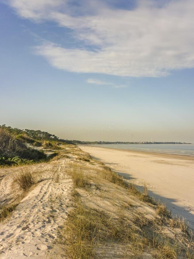 Landskap i kusten av Uruguay arkivfoto