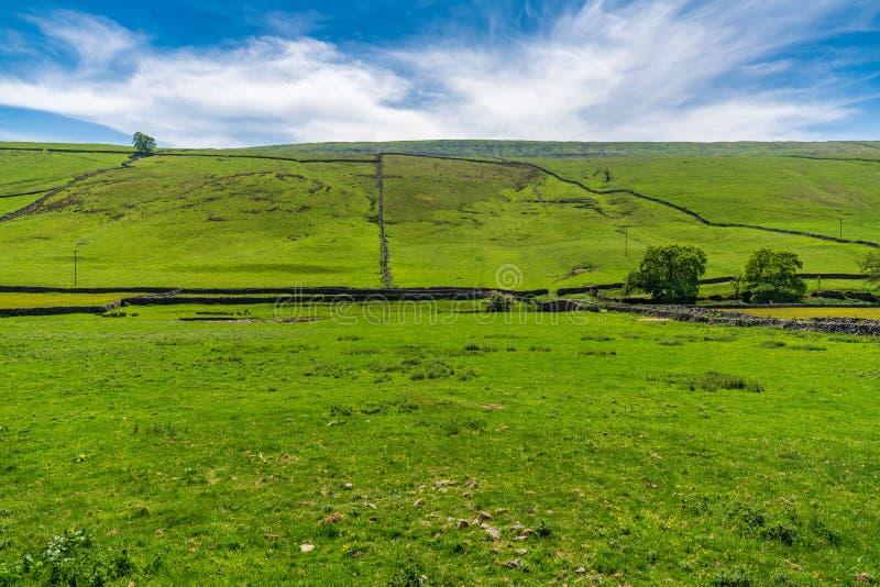 Landskap i North Yorkshire, England, UK arkivfoto