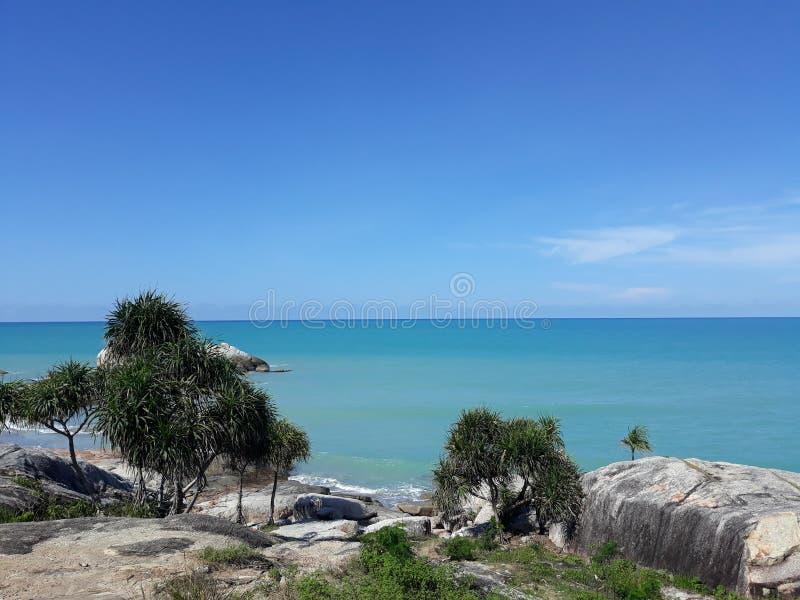 Landskap i stranden Tikus fotografering för bildbyråer