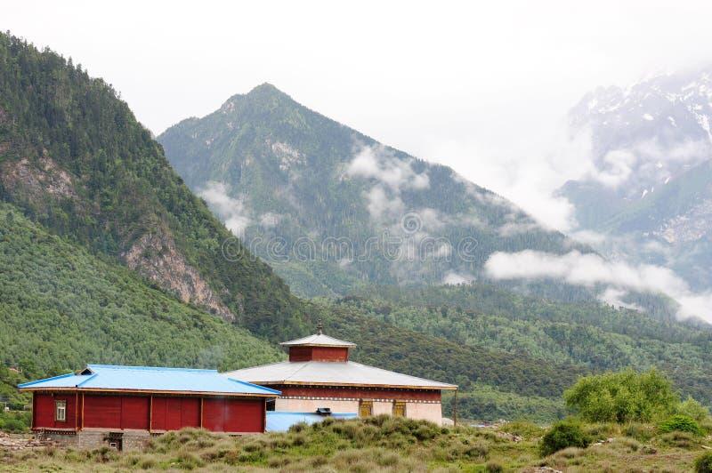 Landskap i Tibet arkivbilder