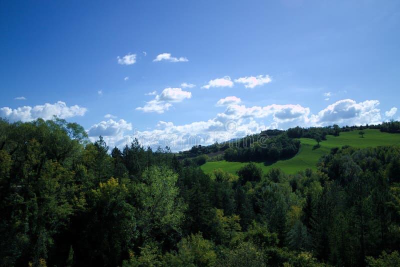 Landskap i Urbino arkivbild