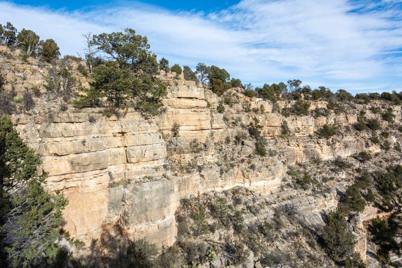 Landskap i valnötkanjon i Arizona royaltyfria foton