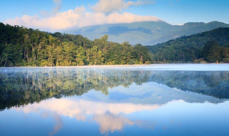 Landskap Julian Price Lake Blue Ridge Pkwy NC fotografering för bildbyråer