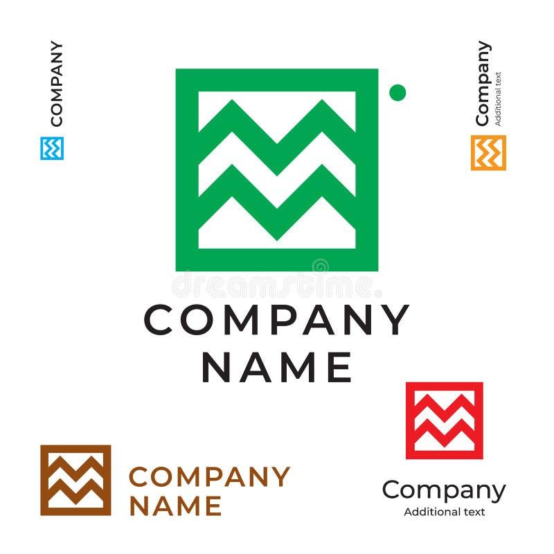 Landskap mall för uppsättning för abstrakta Logo Modern Simple och för ren identitetsmärkessymbol kommersiell symbolbegrepp stock illustrationer