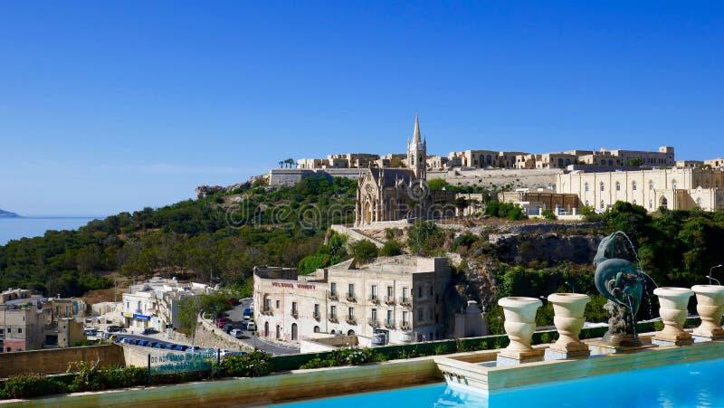 Landskap Malta royaltyfri fotografi
