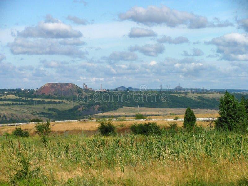 Landskap med en slagheap royaltyfria bilder