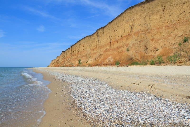 Landskap med havet i Kurortnoe, Ukraina royaltyfria bilder