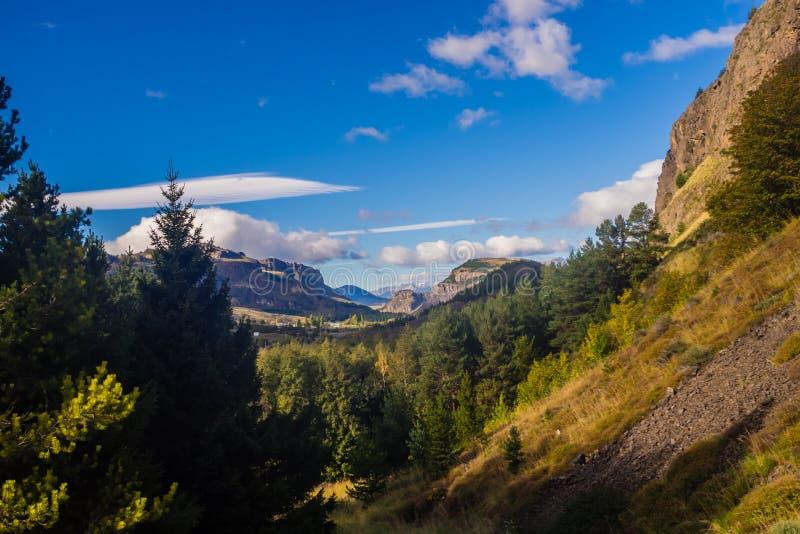 Landskap nära Coyhaique i chilensk Patagonia arkivfoto