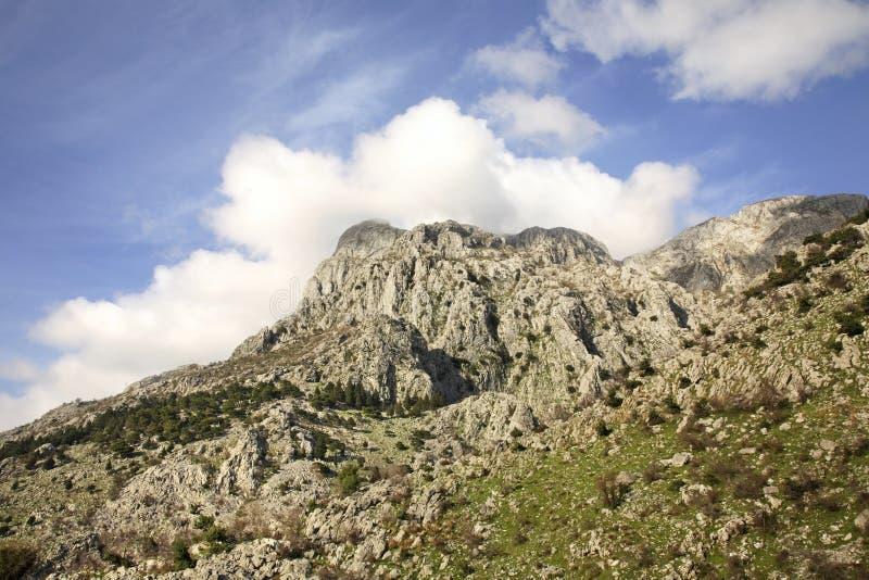 Landskap nära den Kotor staden Montenegro arkivfoton