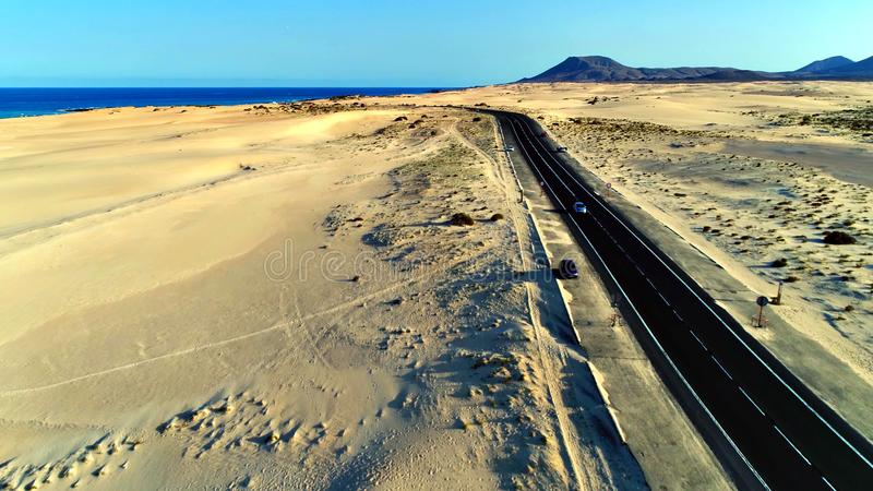 Landskap och sikt av härliga Fuerteventura på kanariefågelöar, Spanien royaltyfria foton