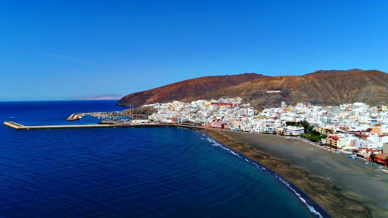 Landskap och sikt av härliga Fuerteventura på kanariefågelöar, Spanien arkivbilder