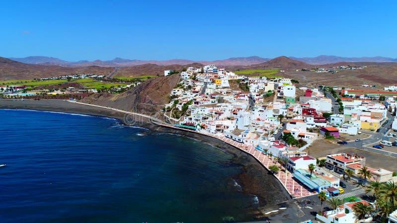 Landskap och sikt av härliga Fuerteventura på kanariefågelöar, Spanien royaltyfri foto