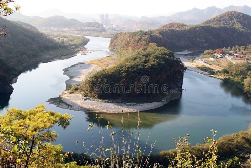 Landskap på Korea arkivfoto