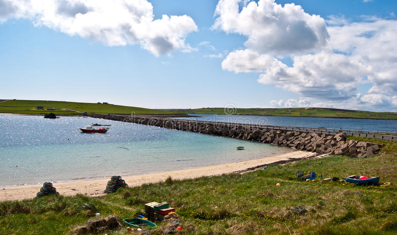 Landskap på Orkney royaltyfri bild