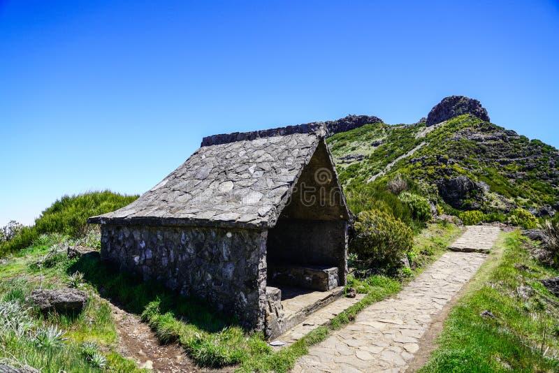 Landskap p? Pico de Ruivo i madeira royaltyfria foton