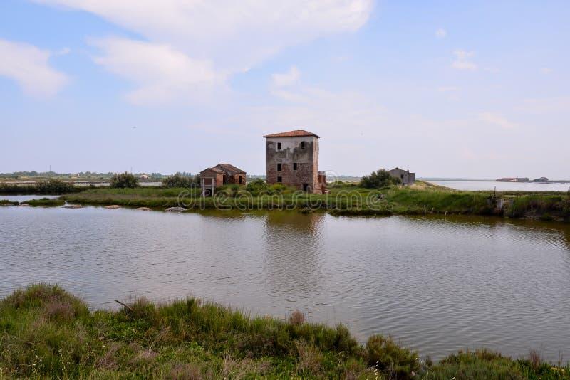 Download Landskap Po-deltan fotografering för bildbyråer. Bild av färg - 106827001