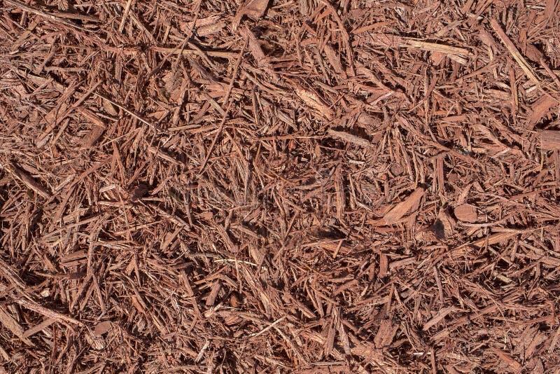 Landskap röd komposttäckning arkivbilder
