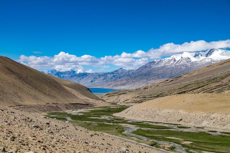 Landskap runt om det Leh området i Ladakh, Indien royaltyfri foto