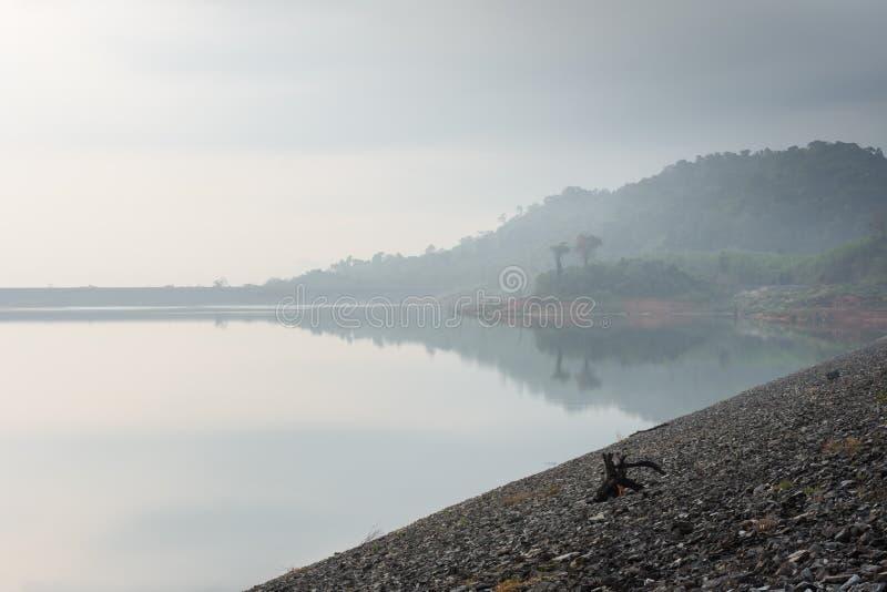 Landskap sjösikt arkivfoto