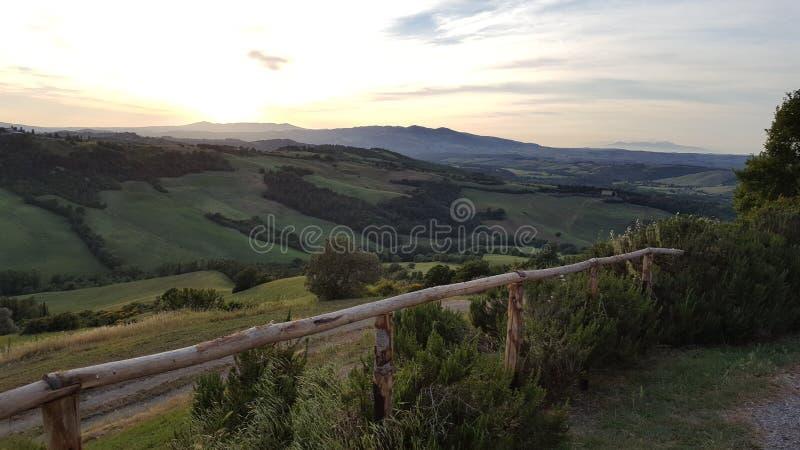 Landskap Toscany arkivbilder