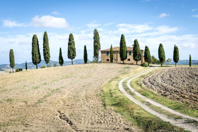 Landskap tuscany arkivfoton