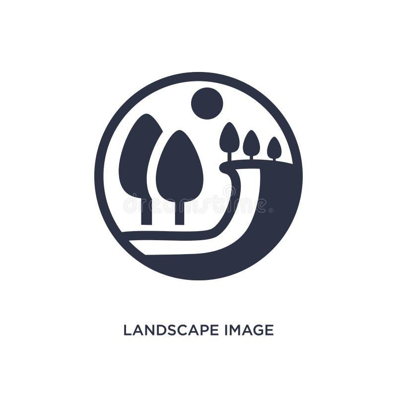 landskapbildsymbol på vit bakgrund Enkel beståndsdelillustration från ekologibegrepp royaltyfri illustrationer