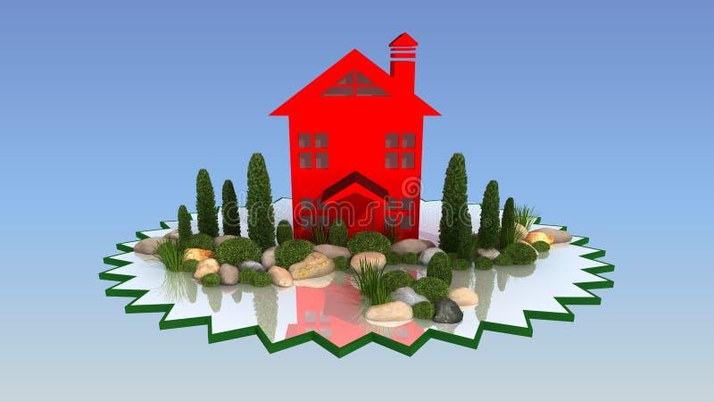 Landskapdesign Royaltyfria Bilder