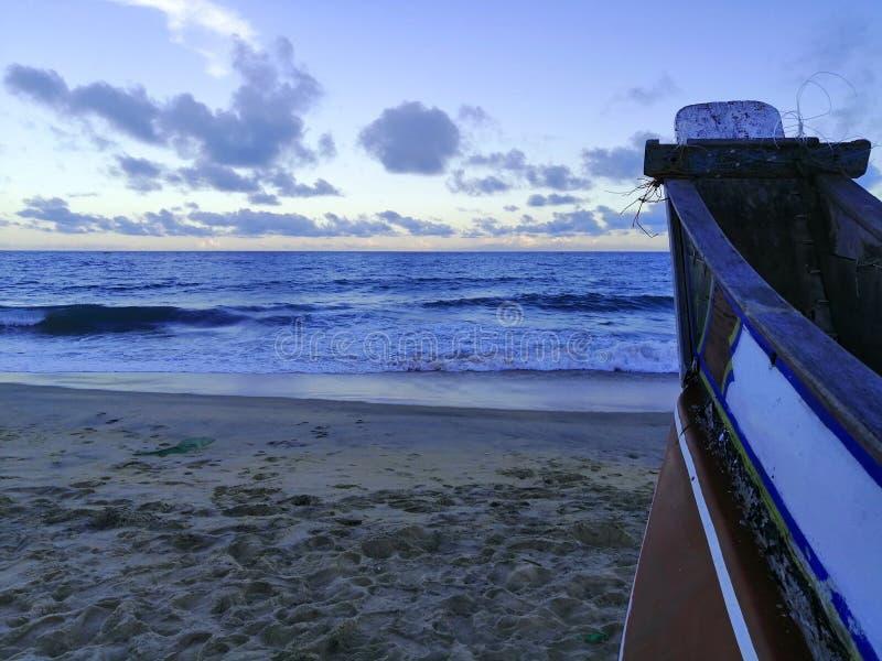 Landskapet av sikten av strandsidan royaltyfria bilder