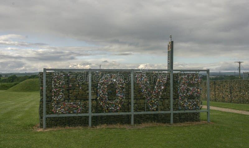 Landskapet i Gretna gräsplan, Skottland royaltyfria bilder