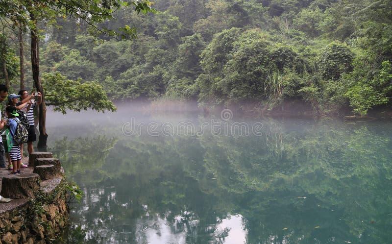 Landskapet i sceniska fläckar för libozhangjiang, guinzhou, porslin arkivbild