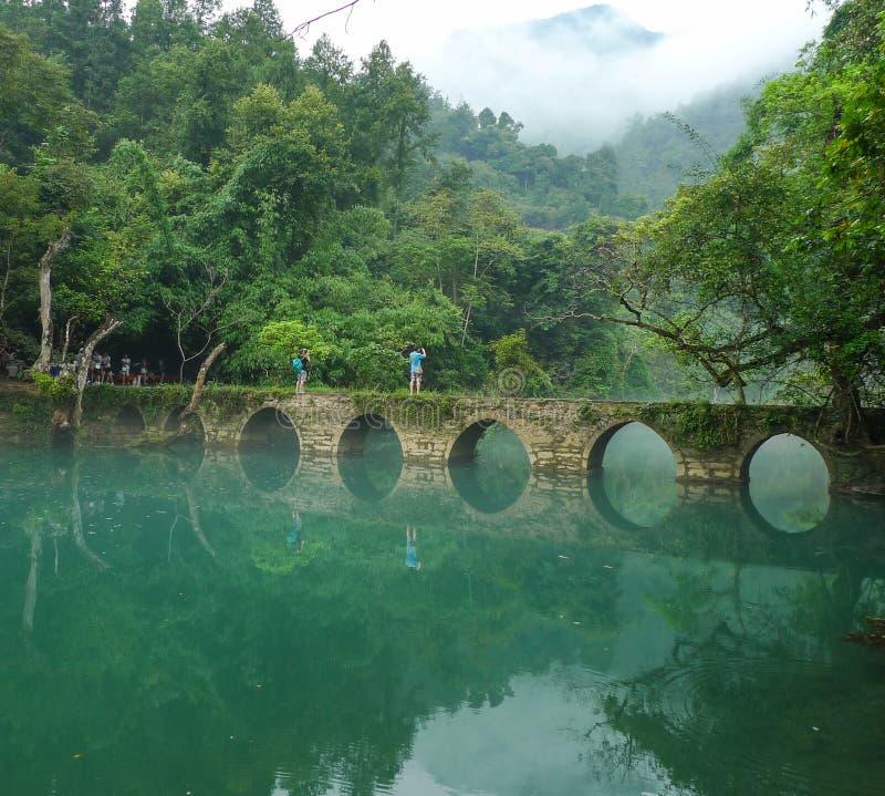 Landskapet i sceniska fläckar för libozhangjiang, guinzhou, porslin arkivbilder