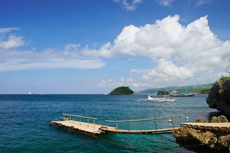 Landskapfläck i den Boracay ön arkivfoton