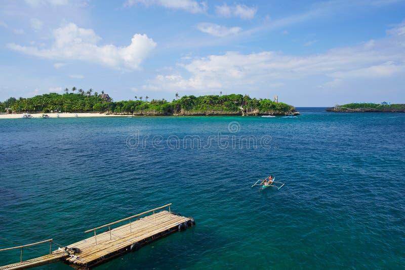 Landskapfläck i den Boracay ön royaltyfria bilder