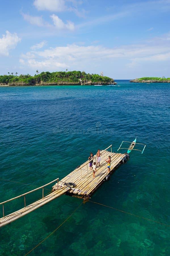 Landskapfläck i den Boracay ön royaltyfri fotografi