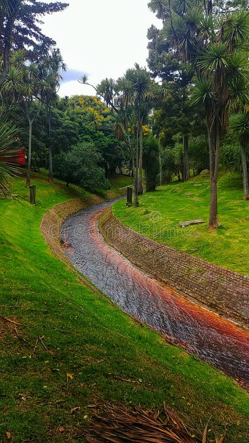 Landskapfloder bogota Colombia royaltyfria bilder