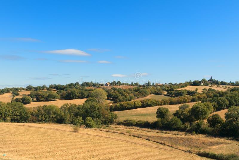 Landskapfranska Limousin arkivfoto