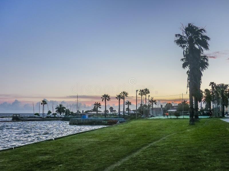Landskapkust av Montevideo royaltyfri fotografi